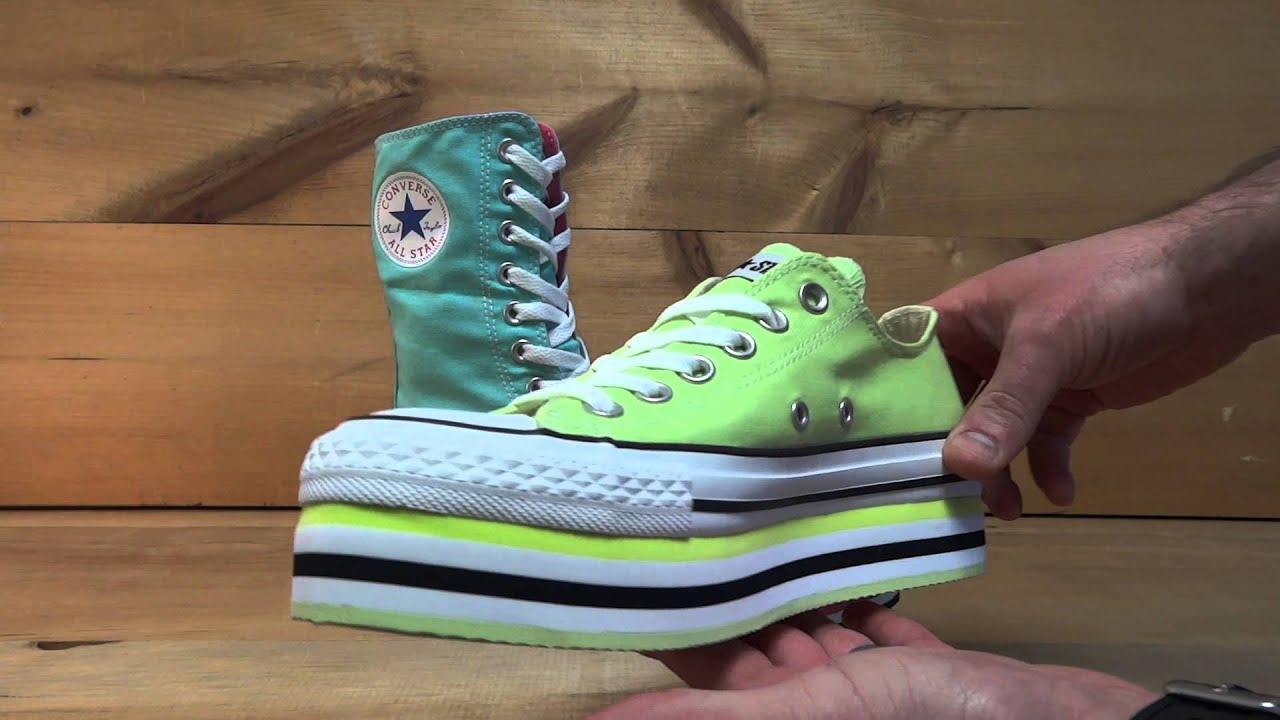 b34225a565c Converse All Stars Chuck Taylor Platform - YouTube