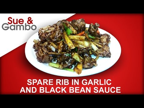 Chinese Spareribs In Garlic And Black Bean Sauce