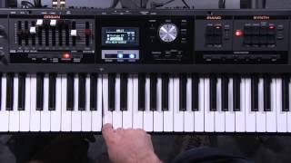 Roland V-Combo VR-09 Splits and Layers