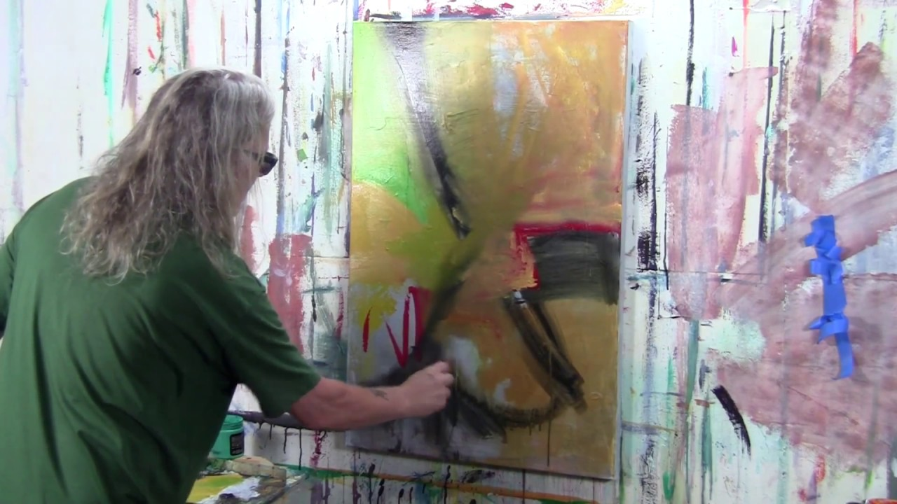 Acrylic Abstract Painting Ideas With Andy Morris