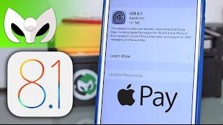 iOS 8.1 Liberado (Apple Pay, Detalles, Novedades)