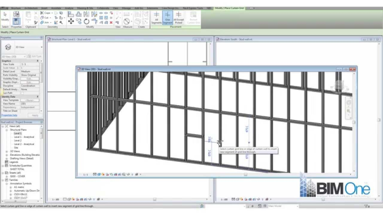 Metal stud walls in Revit - YouTube