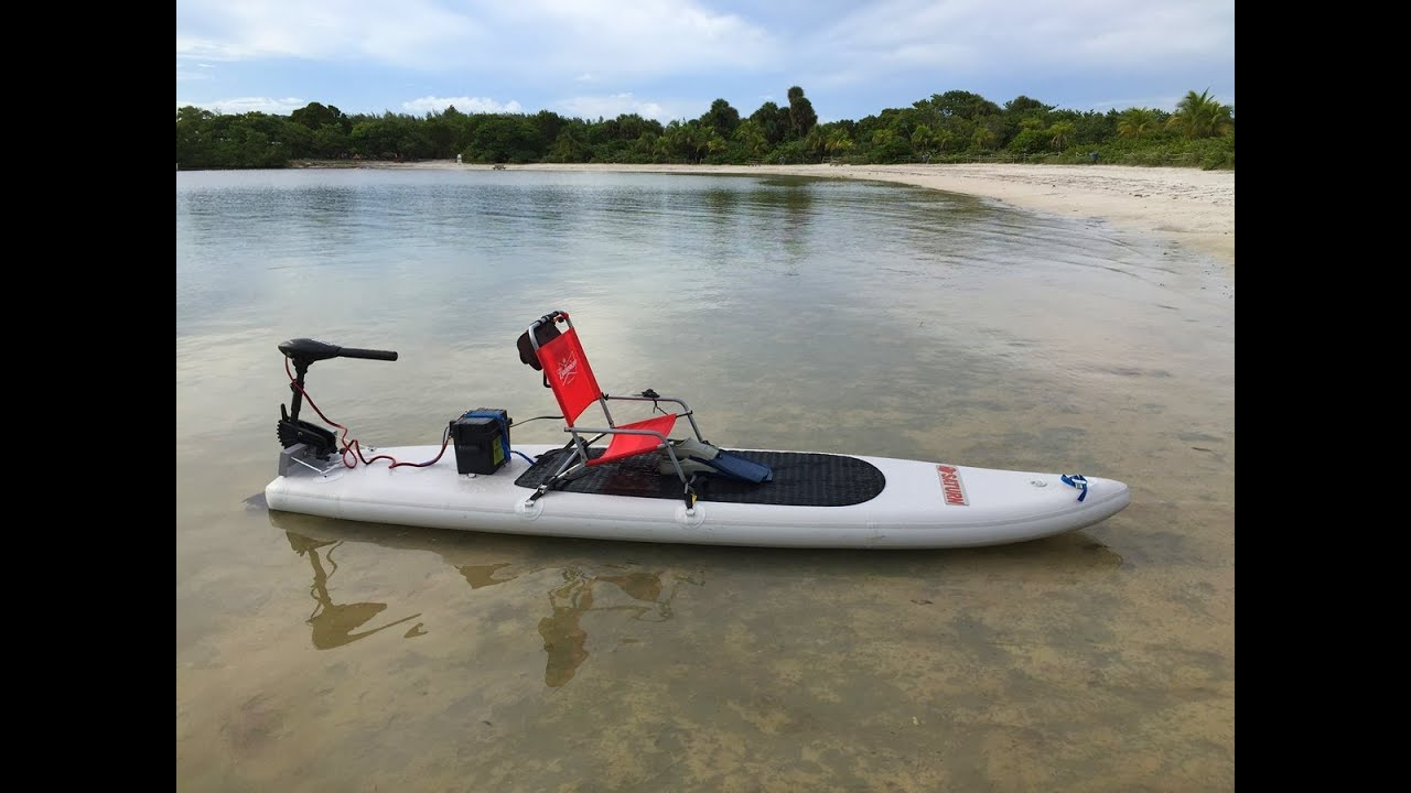 Saturn motosup motorized sup paddle board kayak youtube for Inflatable fishing paddle board
