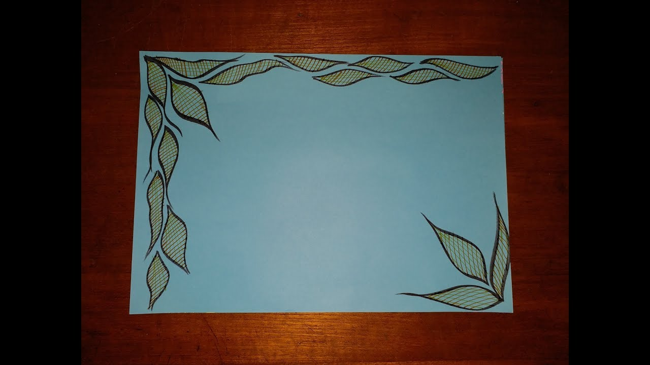 Diy Simple Easy Decorative Border Design For Project File On