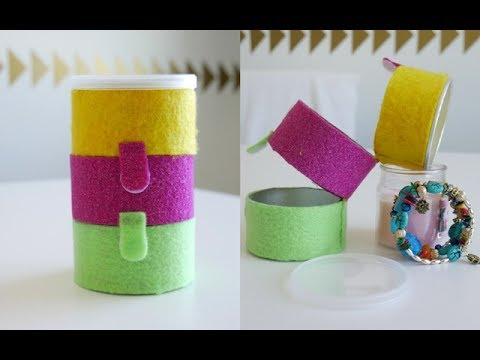 How to Make a Travel Organizer | Storage Boxes | jewelry organizer