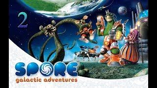 2-часть. Продолжаем играть в Spore. Играем в спор. Прохождение Spore