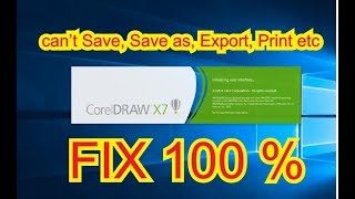 Fix Corel Draw X7 Save Print - Frank Electronics