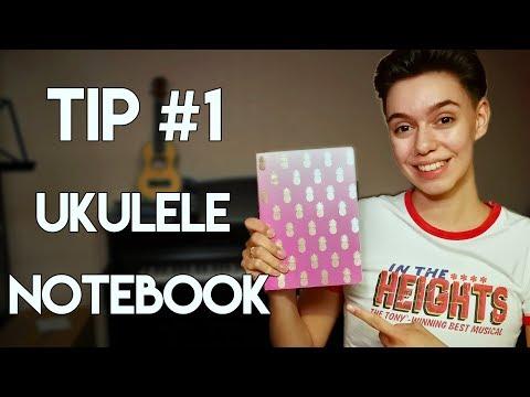 Ukulele Beginner Tip: Notebook/Songbook