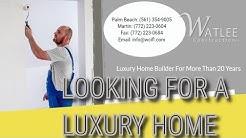 luxury new home construction Gulf Stream Florida | Watlee Construction (772) 223-0604
