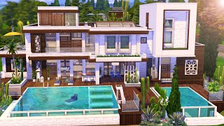 THE SIMS 4 - Speed Build | Modern Pool Mansion