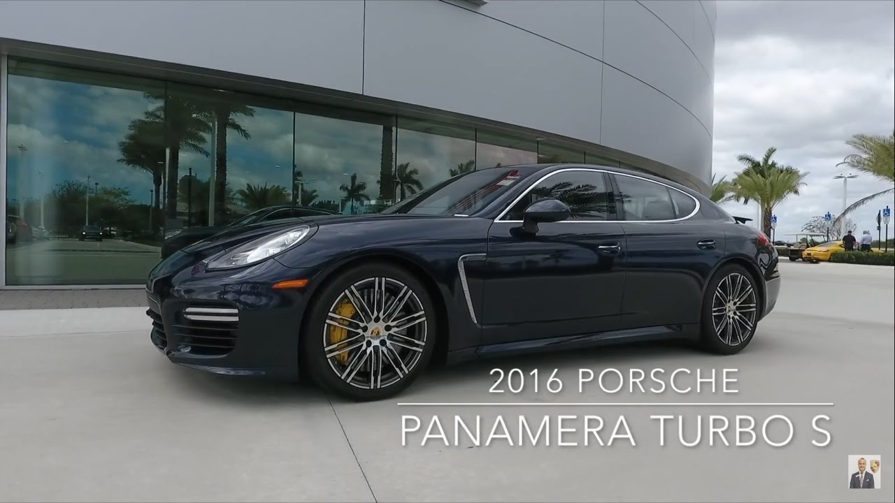 2016 Night Blue Porsche Panamera Turbo S 570 Hp West Broward