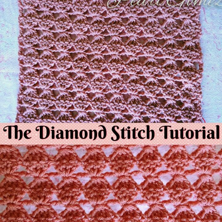 Easy Crochet How To Make The Diamond Stitch Scarf Step By Step
