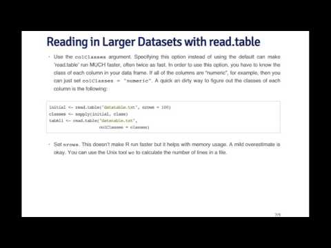 RProg - Reading Large Tables