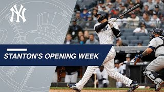Giancarlo Stanton's eventful first week with Yankees