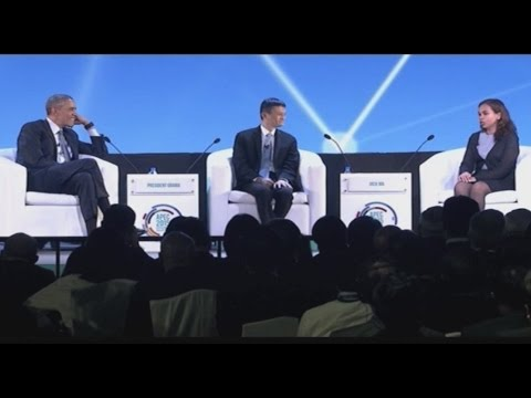 Q&A with Jack Ma and Aisa Mijeno during CEO Summit