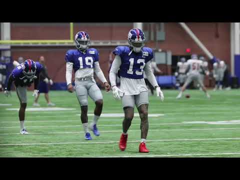 Giants' Odell Beckham practices before Titans game