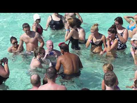 Stingray City attraction in Grand Cayman in the Caribbean