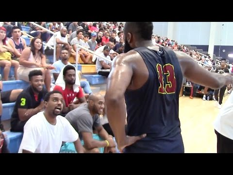 James Harden Gets In Fight with Fan Over Flopping at Drew League Game