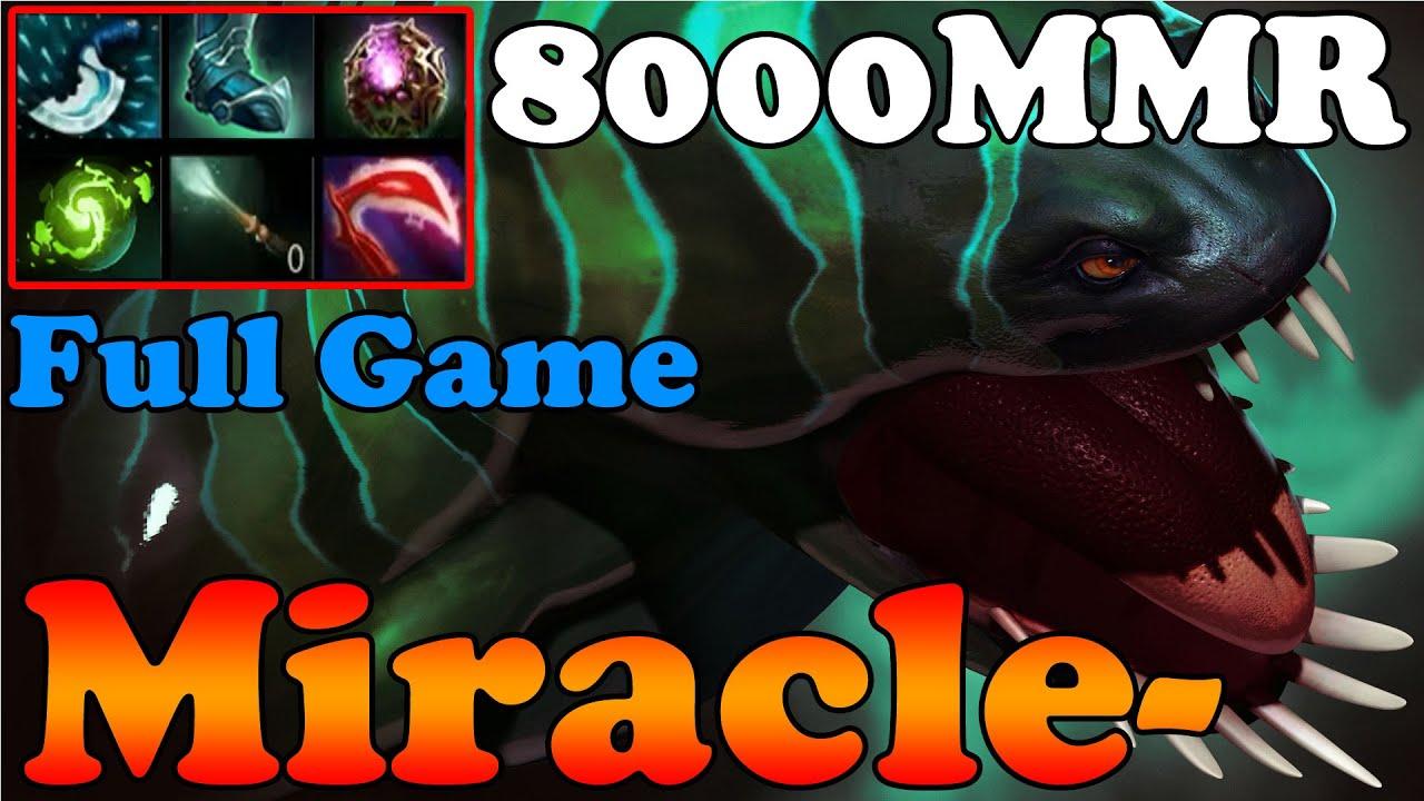 dota 2 miracle 8000mmr plays tidehunter full game ranked