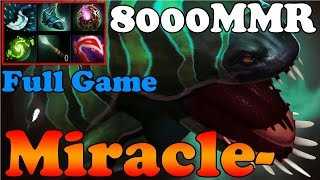 Dota 2 - Miracle- 8000MMR Plays Tidehunter - Full Game - Ranked Match Gameplay