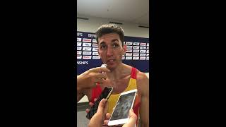 Entrevista a Sergio Fernández, 7º en 400 m vallas, Berlín 2018