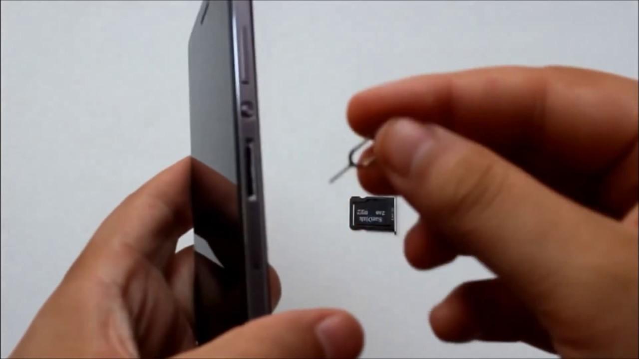 Как вставить СИМ карту в Huawei Ascend P7 - YouTube