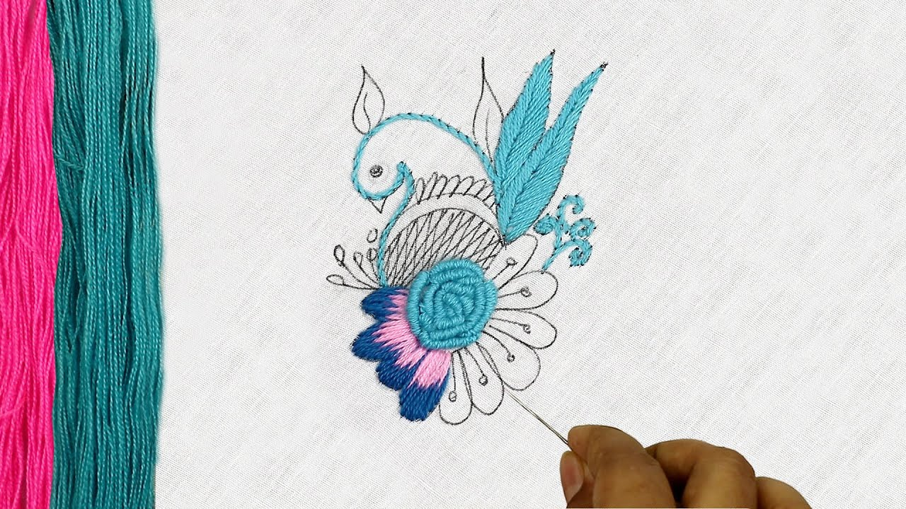 Navratri Special Gorgeous hand embroidery designs of a Creative Hand Embroidery Pattern