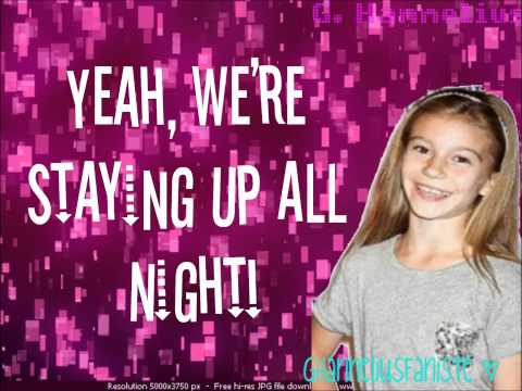 G Hannelius - Staying Up All Night Lyrics