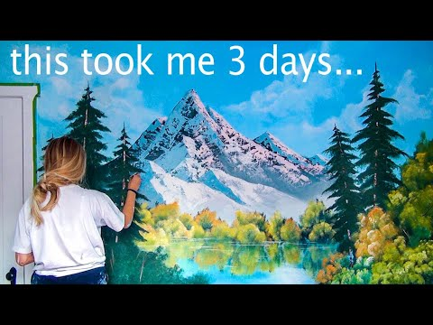 FOLLOWING ANOTHER BOB ROSS TUTORIAL ON A BEDROOM WALL
