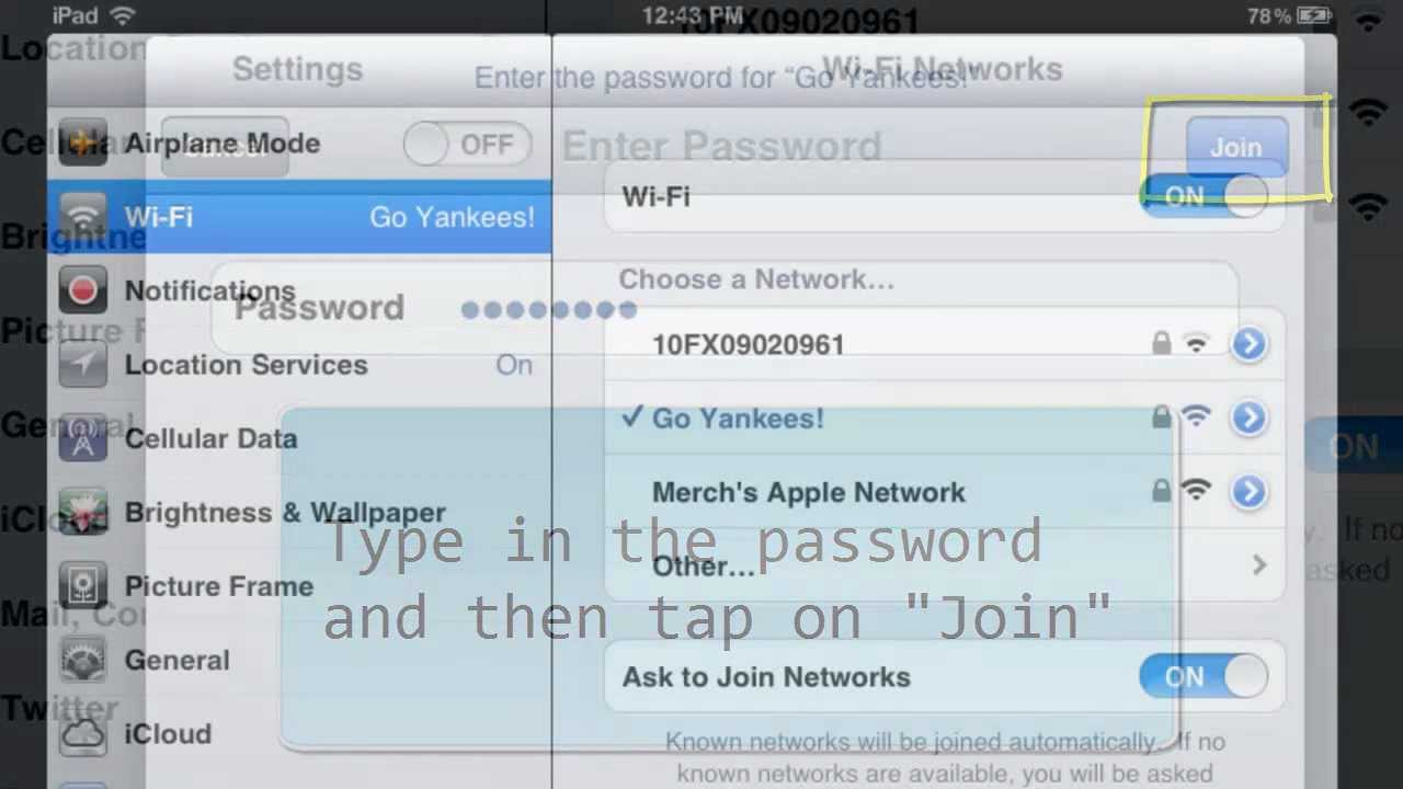 How To Connect To A Wifiwork Using Your Ipad