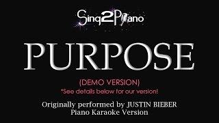 Purpose (Piano karaoke demo) Justin Bieber
