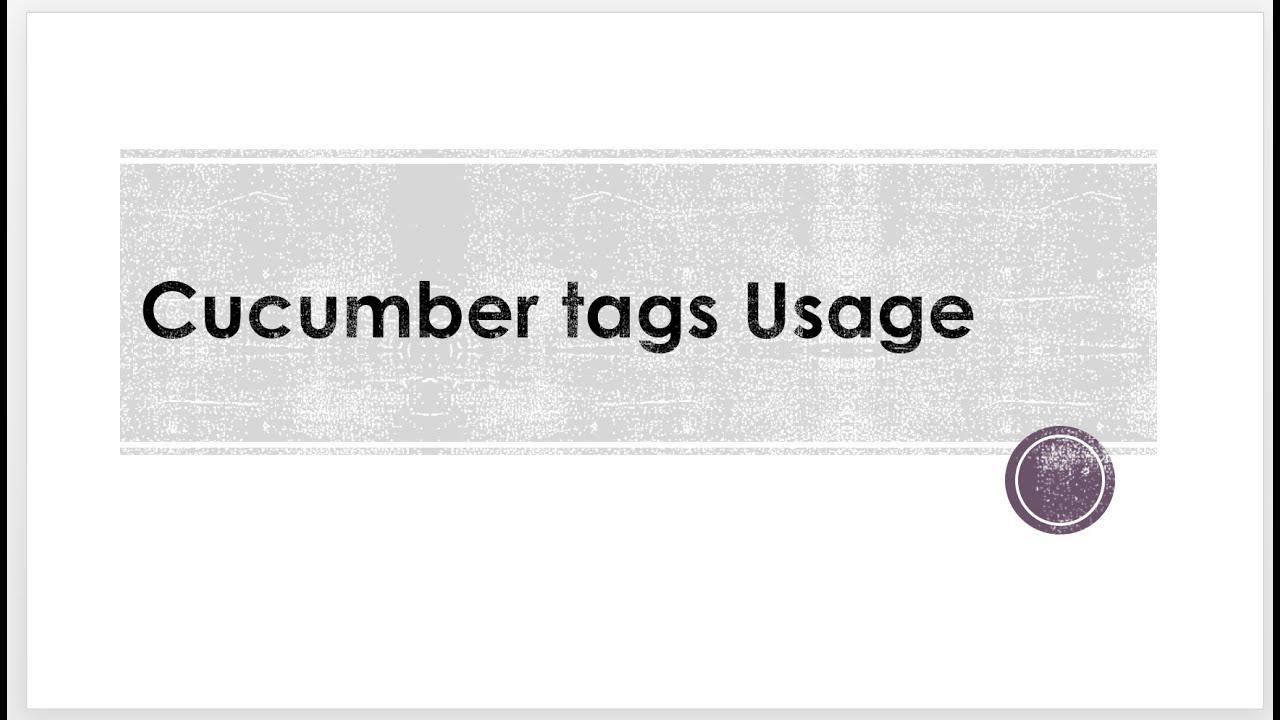 CucumberJS Tags Usage