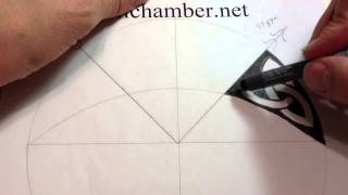How to Draw Celtic patterns 55 - A simple Triskele knot in an irregular shape - 1of5
