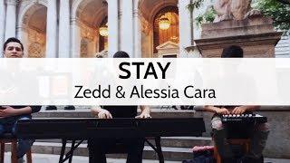 """Stay"" - Zedd & Alessia Cara (NYC Street Cover) - Dan, Jordan & Niko the Piano Man"