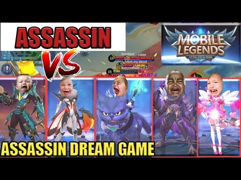 ASSASSIN DREAM GAME   ASSASSIN VS 5 MARKSMAN   MOBILE LEGENDS