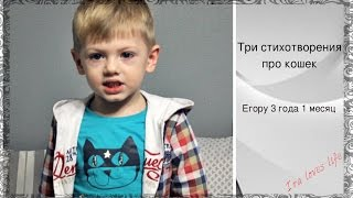 Три стихотворения про кошек - Егору 3 года 1 месяц ❤️ИРА ДЕТСКАЯ❤️