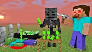 MONSTER SCOOL : WITHER BECAME EVIL VILLAIN - RIP HEROBRINE, SKELETON - Minecraft Animation