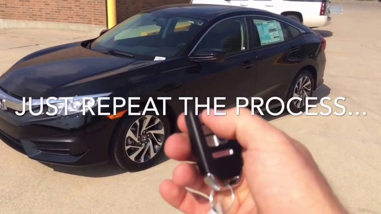 How To Use Remote Start >> How To Use Remote Start 2016 Honda Civic Hondacivic Youtube