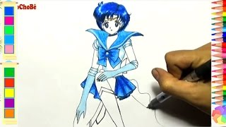 How To Draw Sailor Mercury From Sailor Moon - Drawing Anime - Lamdepchobe TV