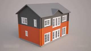 Процесс строительства деревянного дома из профилированного бруса