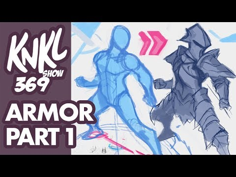 Stylized ARMOR Part 1 (layering Armor On Top Of A Dynamic Pose!) KNKL 369