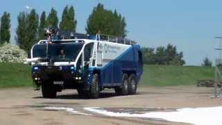 Birmingham Airport Fire & Rescue - Crash Truck on blues, siren and bullhorn