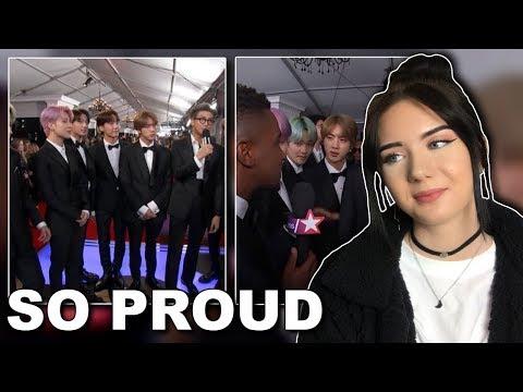BTS AT THE GRAMMYS!! (Reaction To Interviews) // itsgeorginaokay Mp3