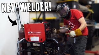 Shop gets 240V ELECTRIC and an AWESOME NEW WELDER!