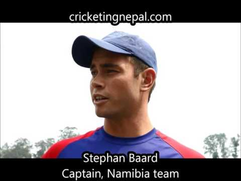 Stephan Baard, captain of Namibia cricket team speaks ahead of of their match against Nepal