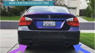 NEW CUSTOM EXHAUST, BMW 330I DUAL!! (HOW I DID IT)