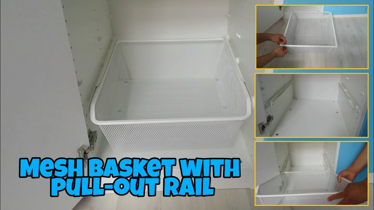 Ikea Pax Guardaroba 2 Ante.How To Mount A Basket With Pull Out Rail For Cabinet Pax Ikea