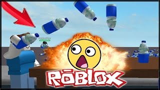 WATER BOTTLE FLIP CHALLENGE V ROBLOXU!