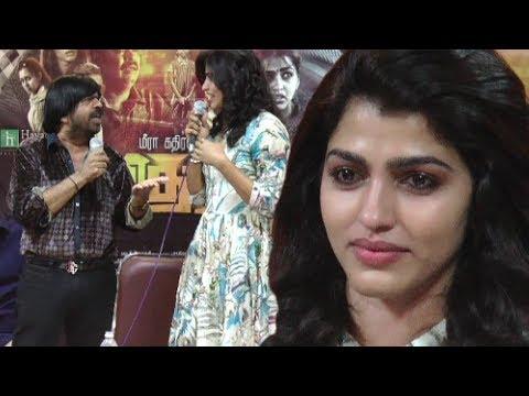 Dhansika crying Video | Tar VS Dhanshika heavy Argument in Vizhithiru Movie Press Meet