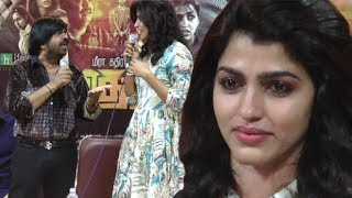 Dhansika crying Video | T.Rajendar VS Dhanshika heavy Argument in Vizhithiru Movie Press Meet